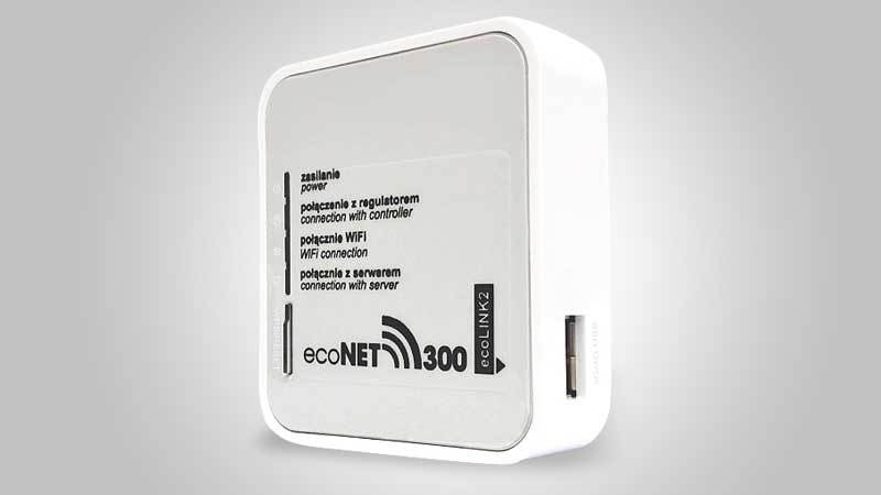 EcoNET 300 internet module for smart heat management