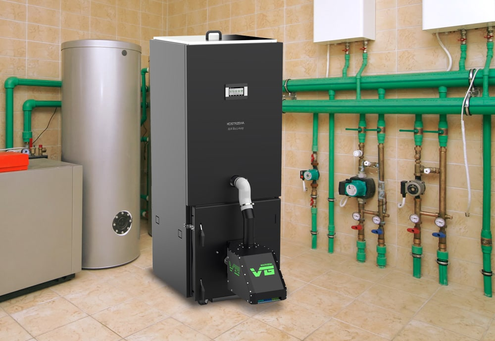 WHAT IS THE BOILER ROOM AREA REQUIRED FOR INSTALLING A PELLET BOILER?